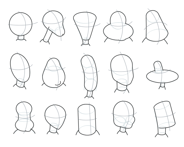 Character Design Head Shapes : Drawing cartoons characters let