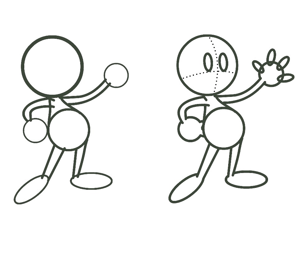 Cartoon Characters How To Draw : Cartoon characters line drawing