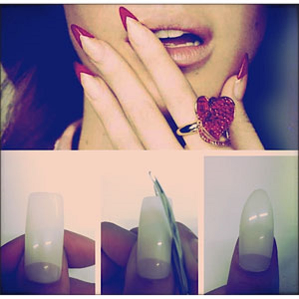 How To Copy Rihanna S Style By Trying Stiletto Nails Picture